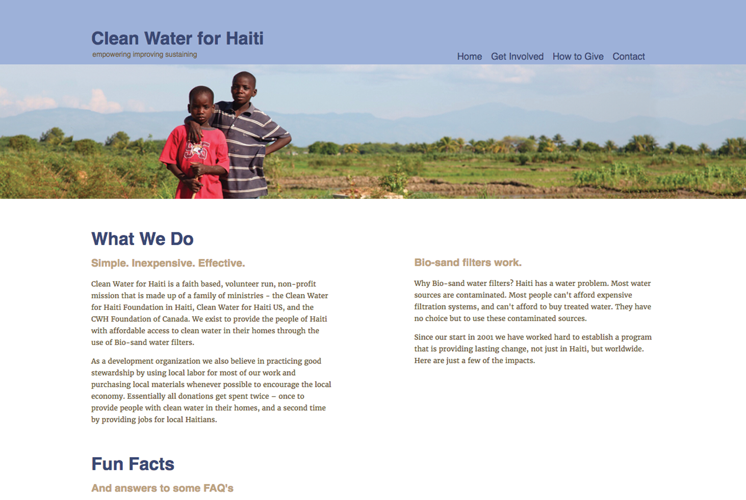 Clean Water for Haiti